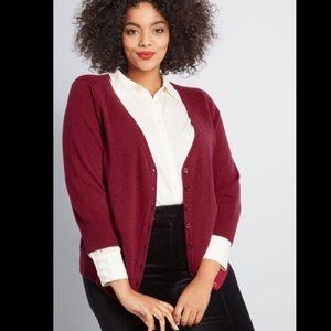 ModCloth Charter School Cashmere Cardigan Size 2X